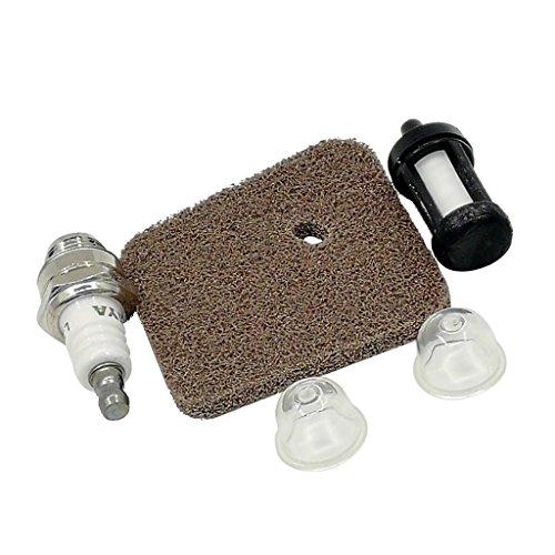 Fenteer Ersatz Luftfilter Kraftstofffilter Primer Bulb Zündkerze Kettensäge Air Fuel Filter Kettensäge Ersatzteile aus Metall Für Stihl FS38 FS45 FS46 FS55 HS45 FC55 KM55
