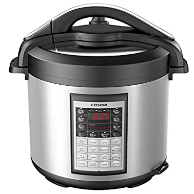 COSORI 8 Quart 8-in-1 Multi-Functional Programmable Pressure Cooker, Slow Cooker, Rice Cooker, Steamer, Sauté, Yogurt Maker, Hot Pot and Warmer, Full Accessories Included, Stainless Steel