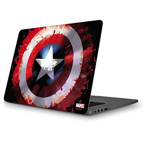 Skinit Decal Laptop Skin Compatible with MacBook Pro 13-inch (2014) - Officially Licensed Marvel/Disney Captain America Shield Design