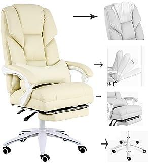 SWNN gaming chair Sillas Wee Office Furniture Computer Comfort Niñas Juego Sillas Dormitorios Juego De Sillas For Dormir Sillas De Boss Giratorio Sillones (Color: Beige (pies De Nylon), Tamaño: 70 * 7