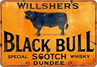 ウィルシャーズブラックブルウォールメタルポスターレトロプラーク警告ブリキサインヴィンテージ鉄絵画装飾バーガレージカフェのための面白いハンギングクラフト
