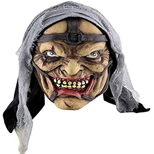 Vbtsqp Suministros para Fiestas Festival Mascarada de Halloween Mscara de Halloween Mscara de ltex Disfraz de Halloween Bar Use Sombrero Mscara de ltex