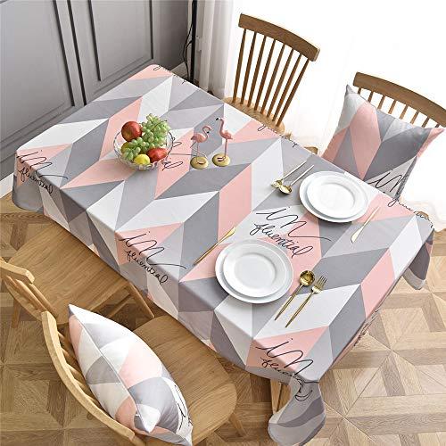 Verbesserte wasserdichte waschfreie rechteckige Tischdecke Zu Hause Wohnzimmer hochwertige Teetisch Tischtuch Tuch,Graues Pulver, 60 x 60cm