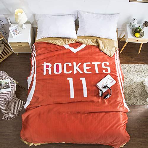 Hllhpc Cartoon kleine nieuwe zomer koel door het kantoor lunch breken dunne deken slaapzaal enkele airconditioner was 1,2 meter vormige dubbele