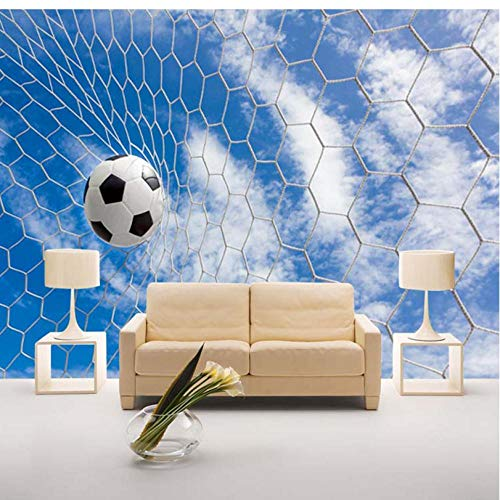 Benutzerdefinierte 3D moderne einfache Wandbild Fresko Sport Fußball für Kinder Bettwäsche Zimmer Sofa Hintergrund Foto Wallpaper Home Decorations-350cmx245cm