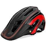 OMGPFR Casco De Bicicleta para Adultos Resistente A Los Golpes, Casco De Bicicleta De Montaña para Deportes Al Aire Libre F692,Rojo