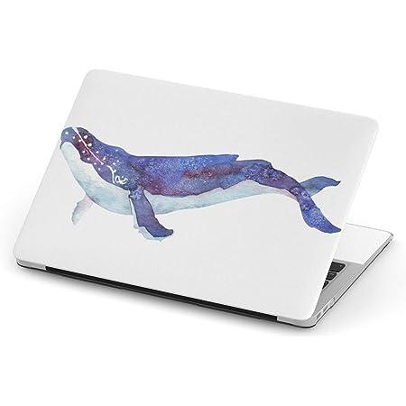 igsticker Macbook Pro 13inch 2020/19/18/17/16 専用スキンシール A1989 / A1706 / A1708 マックブック プロ 13インチ 専用シール フィルム ステッカー アクセサリー 保護 011406 海 生き物 くじら