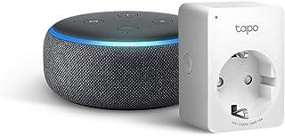 Echo Dot (3ª generazione) - Tessuto antracite +Tapo P100 Presa intelligente Wi-Fi, compatibile con Alexa