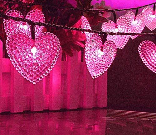 Outdoor Tuin Zonne-String Lampen, 20 ft 30 LED Liefde Hart Vorm Zonne-Sterren Fee Decoratieve String Lights Waterdicht voor Halloween Tuin Bruiloft Party Thuis Patio