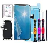 Trop Saint® Écran pour iPhone 11 Pro Max Noir OLED - Kit de Réparation Complet avec Notice, Tapis de Repérage Magnetique, Outils, Joint d'étanchéité et Film Protecteur d'écran