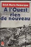 A L'ouest Rien De Nouveau - Le livre de poche - 01/01/1988