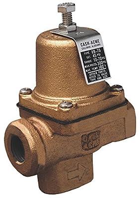 "Pressure Regulator, Eb75 FPT X FPT Cartridge Based Design, 10 Psi - 70 Psi Range, 3/4"" by Cash Acme"