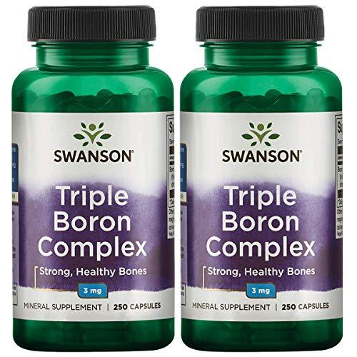 swanson premium bone supplements Swanson Triple Boron Complex Joint Support Bone Health Hormone Support Supplement 3 mg 250 Capsules