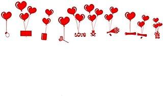 LUOEM Arte DIY Amor en Forma de corazón de la Pared de la