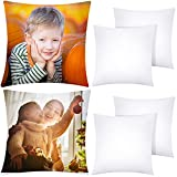 ANECO 6 Pack Sublimation Pillow Cases White...