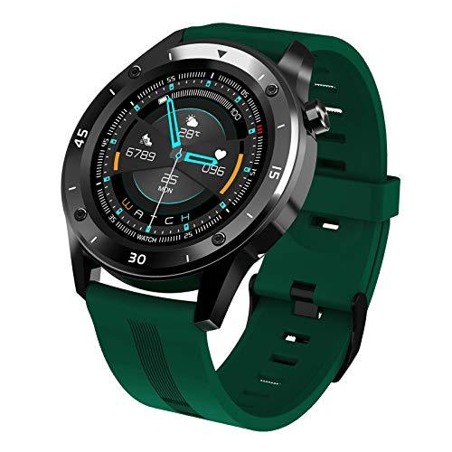 IPOTCH Reloj Inteligente para Mujer, Contador de Actividad física, Reloj Inteligente IPX7 Impermeable de 1,54 'con Pantalla táctil para Android 4,4 y para - Verde