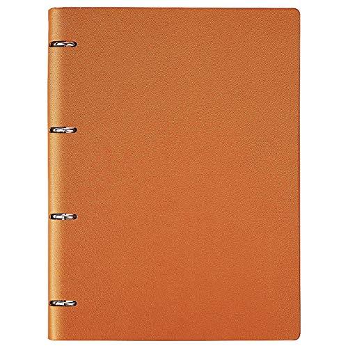 Cuaderno a rayas A4 Executive Origaniser rellenable con anillas redondas y cubierta de cuero