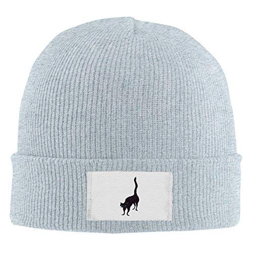 huatongxin Soft Cotton Beanie Evil Blue Eye Cat Unisex Stretchy Knit Hat Cap Acrylic Watch Hat