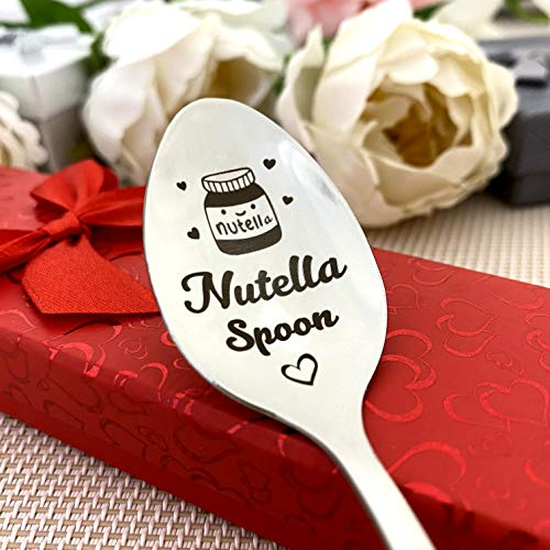 Nutella Spoon - Engraved Spoon for Nutella in Gift wrap - Birthday Gift - Xmas Small Gift