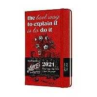 Moleskine 2021 Alice Wonderland Weekly Planner, 12M, Pocket, Cards, Hard Cover (3.5 x 5.5)