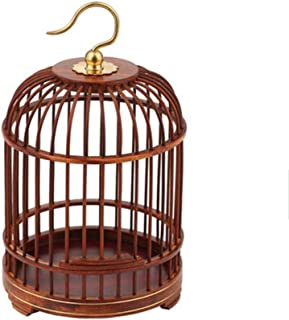 NBRTT Perfect Hanging Birdcage Lantern, Wooden Hand Crafted Bird Cage, Pet Products Classic Round Cage for Small Birds Party Home Garden Decorations