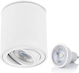 con GU10 luce bianca calda struttura di montaggio IP44 da incasso per bagno in alluminio telaio in alluminio IP44 chiusura a scatto faretto da incasso 1xschwarz-7w 560 lumen sweet-led 7 W