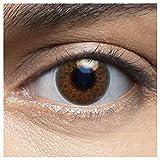 LENSART I Lentes de Contacto CORAL MARRÓN 1 Par 2 Piezas I 0.00 Dioptrías sin dioptrías I Diámetro 14.00 I Blandos | Ojos Lentillas de Naturales Colores Azul, Blanco, Grises Marron