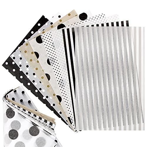 BHGT Seidenpapier 160 Blätter in 8 Style A5 Bastelpapier zum Kreieren von Pompoms Papierblumen Tischdekofür Scrapbooking