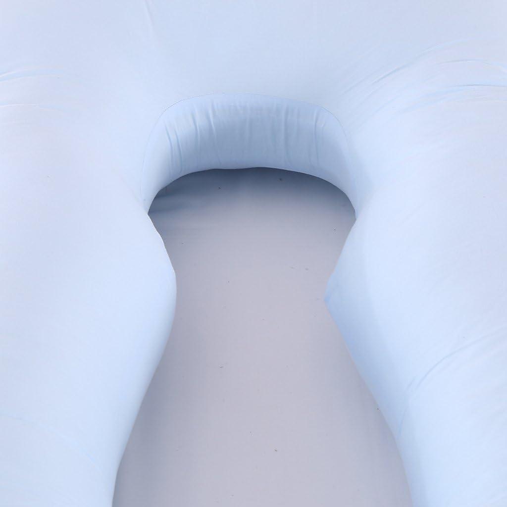 Sharplace Oreiller de Grossesse Mitre Polyvalente Aident à Soulager Douleur Remplissage de Coton PP Non Allergène - Oreiller - Bleu Oreiller - Bleu