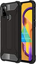 TheGiftKart Special Edition Neo-Hybrid Dual Layer Armor Back Case Cover for Samsung Galaxy M30s (Metallic Black)