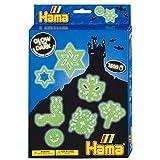 Hama - 3414 - Loisirs Créatifs - Boîte 1500 Perles à Repasser + 3 Plaques - Taille Midi - Phosphorescent