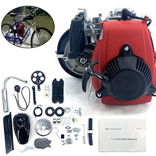 DOMINTY 49cc Bicycle Engine Kit, Motorized Bike 4-Stroke, Gas Petrol Motorized Bike Engine Scooter Parts for Motorized Bicycle Bike Modification (Upgrade Gearbox)