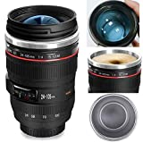 Bestic Camera Lens Coffee Mug,the Latest Design Stainless Steel Travel Mugs,Food Grade Materials,Leak Proof,12oz,Photography Mugs,Tumbler Insulated Cups for Hot and Cold Drinks,for All Ages