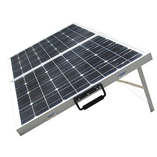 ECO-WORTHY Solarmodul 200W Monokristallin 2 x100w Solarpanel 12V Solar Komplett Set Solar-Ladegerät Faltbar für Camping Wohnwagen Boot 12 V Batterie
