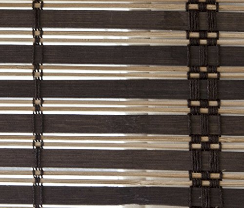 VERDELOOK Africa, Tapparella in Listelli di Bamboo, 100x160 cm, Marrone Scuro