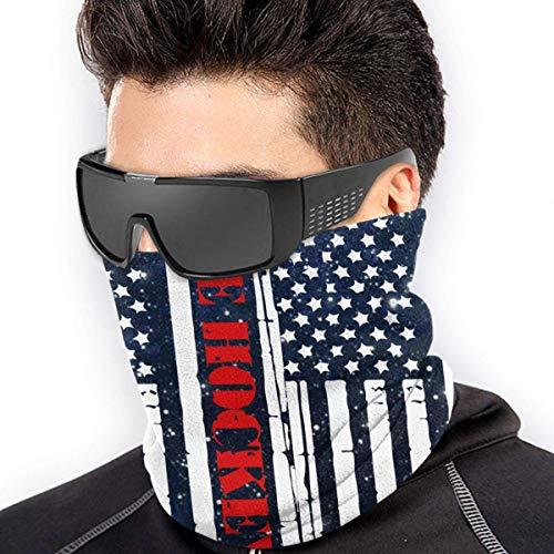 American Flag Eishockey Mikrofaser Polyester Naht winddicht Bandana & Gesichtsmaske & Halswärmer Gaiter Shield – für Unisex Gr. Einheitsgröße, siehe abbildung