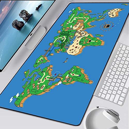 CQDSQN Alfombrilla Gaming 800 X 300 X 3 mm Azul Juego Mapa Océano Alfombrilla De Ratón Grande Alfombrillas Gaming Raton Ordenador XXL Mouse Pad Almohadilla De Escritorio Grandes Alfombrilla