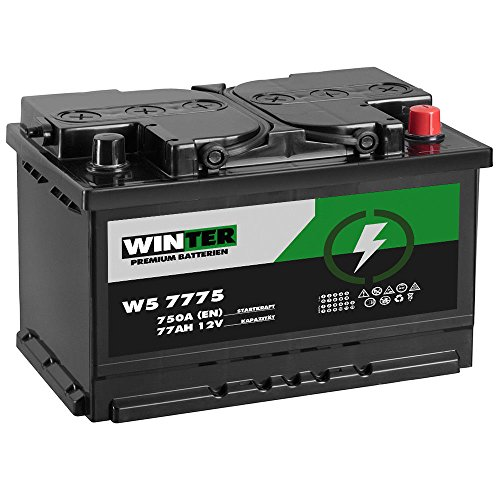 Preisvergleich Produktbild Winter Premium Autobatterie 12V 77Ah 750A / EN statt 70Ah 72Ah 74Ah 75Ah