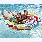 Piruleta flotante inflable fila de caramelo gigante piscina de flotación del polo del colchón de aire ocioso mujeres flotando Fila de vacaciones Fiesta del Agua Diversión juguetes para la piscina
