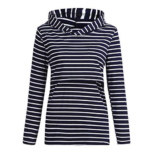 Mutterschaft Hooded Sweatshirt Gestreifter Hoodie Loose Casual Stillen Langarm Top Für Schwangere