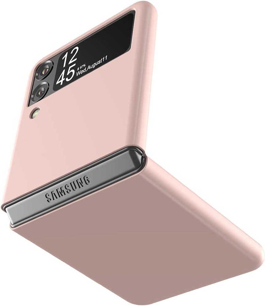 Cresee Case for Samsung Galaxy Z Flip 3 5G 2021, Slim Fit Matte PC Cover Phone Case for Galaxy Z Flip3 - Pink
