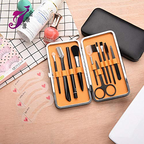 MPKHNM Direct beauty tools Multi-function beauty set Decoration eyebrow tools 10 sets of eyebrows black yellow