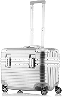 BXDYA Aluminum Trolley Case Tool Set, Sturdy Tool Box with Mechanic Travel Tool Kit, Travel Totes Luggage Business Trolley Anti-Scratch Wear Resistant (Color : Silver)