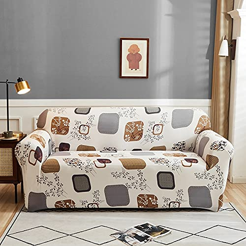 WXQY Floral Print Stretch Sofa Cover Living Room Corner L-Shaped Armchair All-Inclusive Chaise Longue Sofa Blanket A20 3 Seater