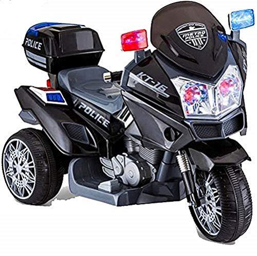 crooza 12 Volt Motorrad SCHWARZ Kinderauto Gross Polizeimotorrad Neu