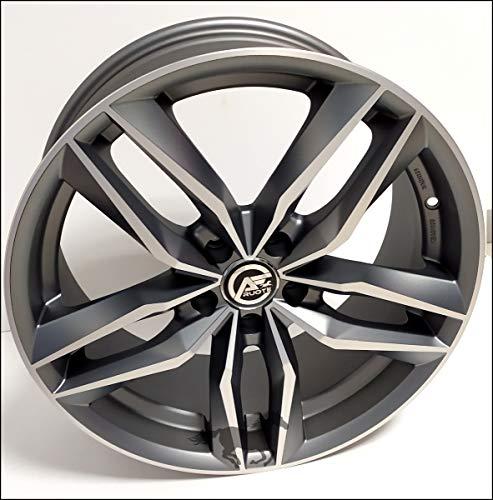 1 F733 Llantas de Aleación NAD 8 18 5X112 45 66,5 Compatible Con Volkswagen Golf 5 6 7 8 T-Roc Hecho en Italia