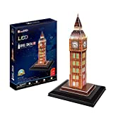 CubicFun- Puzzle 3D LED Big Ben (CPA Toy Group Trading S.L. L501H)