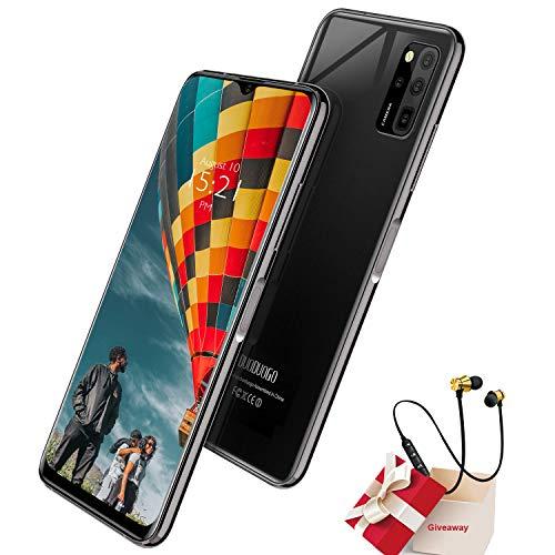 Smartphone Oferta del día, 6 GB RAM 128 GB ROM, 6,52 pulgadas Full Screen, Android 10 Octa Core Móvil, Batería 4500 mAh, 16 MP + 8 MP, 4 G Dual SIM Face & Fingerprint Unlock Teléfonos móviles (negro)
