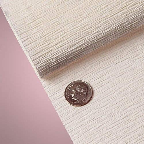 PREMIUM COLORED CREPE PAPER - Top quality Italian paper craft (White)