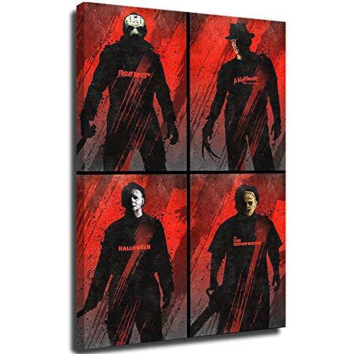 Dead by Daylight Print Artwork Halloween Freddy Krueger Michael Myers Jason Voorhees Bubba Sawyer As a Present Frameable 16x24 Inch